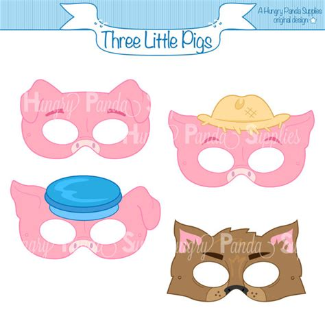 printable pig nose mask three little pigs printable masks three little pigs big bad