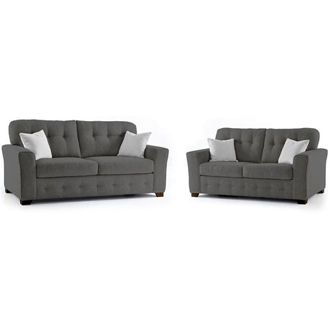 2 Seater Grey Sofa by Plumstead Fabric 3 2 Seater Sofa Combo In Grey Just