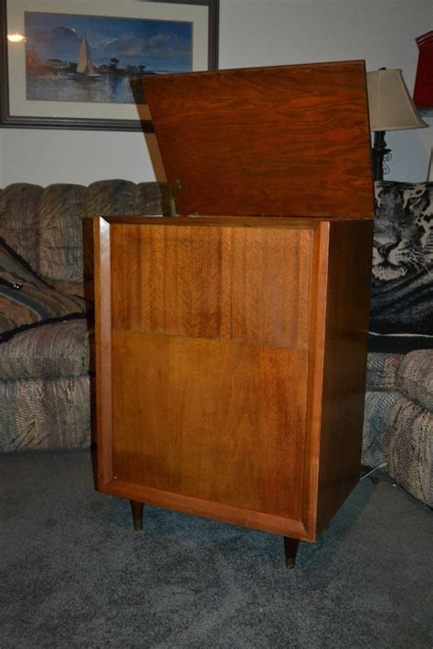 vintage stereo cabinet with turntable vintage gerrad rc88 4 turntable phonograph wood stereo