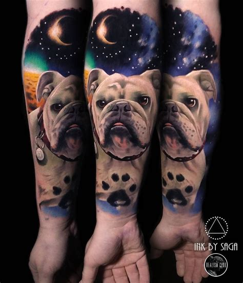boss tattoos space bulldog by inkbysaga at tattoos in