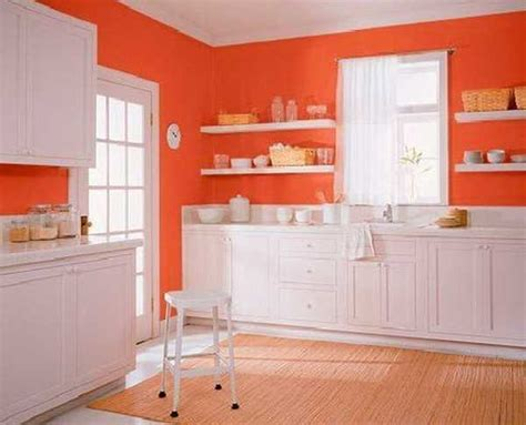 orange color shades and modern interior decorating color