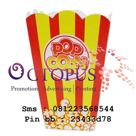 octopus packaging design  print kemasan dus popcorn