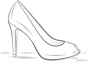 how to draw heels how to draw a high heel shoe step by step drawing tutorials