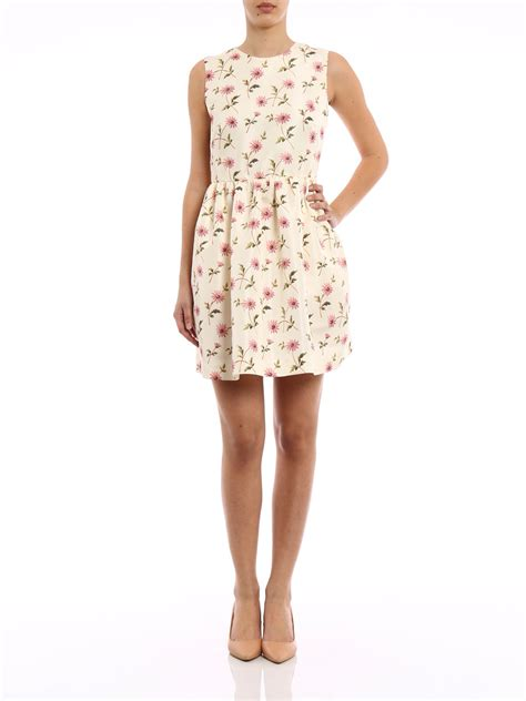 Floral Print Sleeveless Dress floral print sleeveless dress by valentino