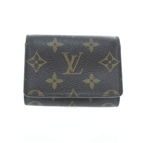 Louis Vuitton Lv Monogram Coklat Tempat Card Holder Pocket Chocolate louis vuitton monogram business card holder 28554
