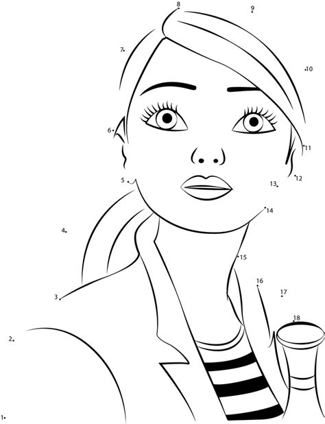 barbie printable dot to dot cute barbie dot to dot printable worksheet connect the dots