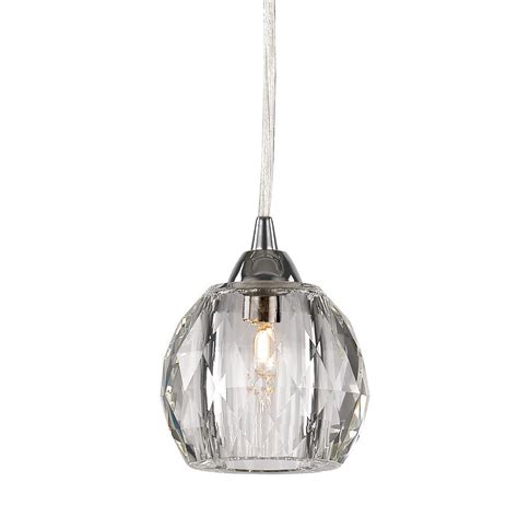 decor living 1 light chrome ball mini pendant with k9