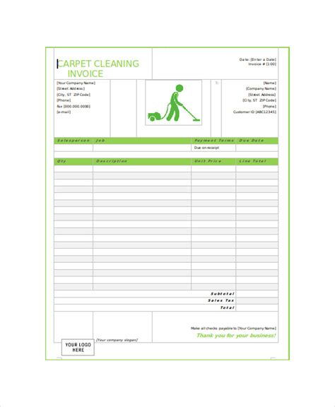 Carpet Cleaning Receipt Template 28 Images Cleaning Invoice Template Uk Invoice Sle Template Sle Service Invoice Template