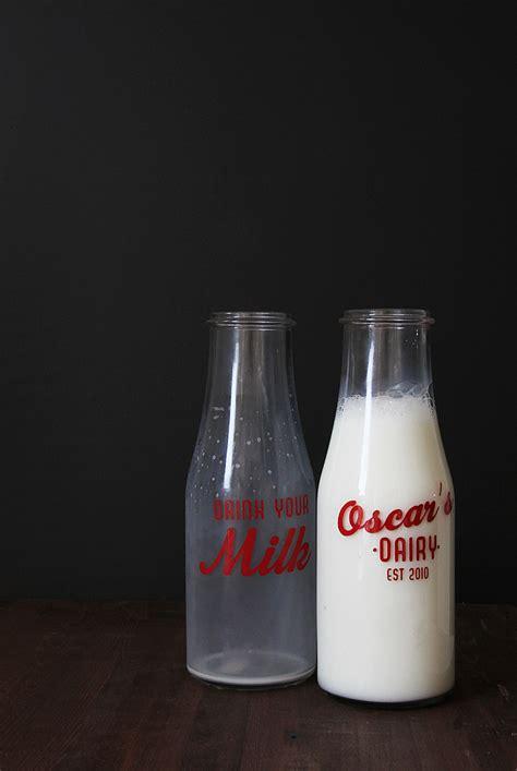 design your own milk bottles diy vintage milk bottles another ikea hack lindsay
