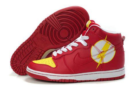 nike flash sneakers dc comics nike dunks high tops shoes comic nikes dunks