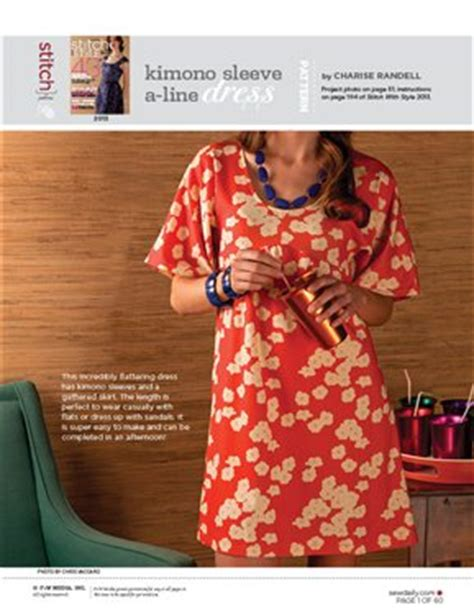 dress pattern kimono sleeve kimono sleeve a line dress sewing pattern sew daily