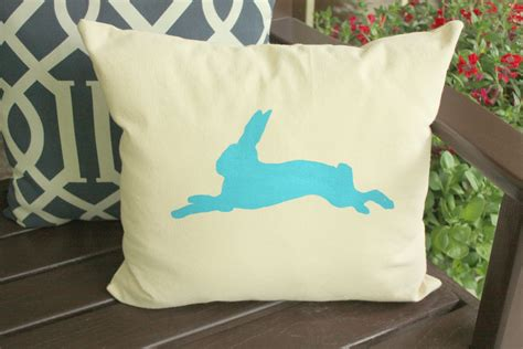 photo print pillow diy bunny print projects using a free printable