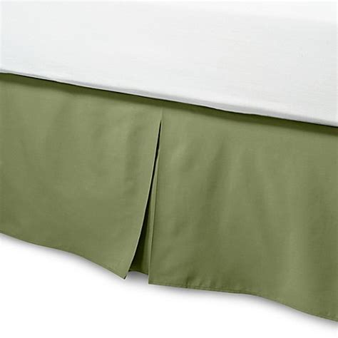 green bed skirt smoothweave 14 inch tailored full bed skirt in green bed bath beyond