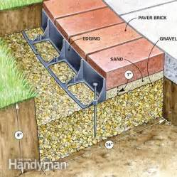 Installing Pavers In Backyard Use Brick Borders For Path Edging The Family Handyman