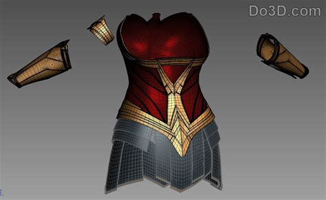 printable model   woman full body armor