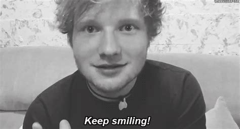 Keep Smiling White ed sheeran shares instagram of a fan note calling him