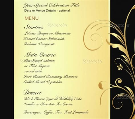 29 Birthday Menu Templates Free Sle Exle Format Download Free Premium Templates Birthday Menu Template