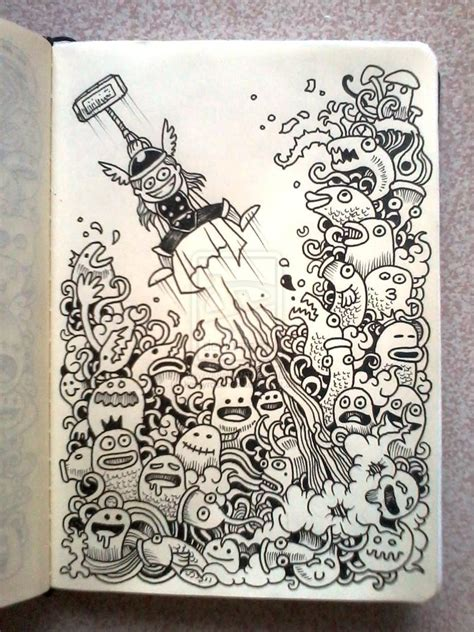 the doodle daily daily doodles thor by kerbyrosanes on deviantart