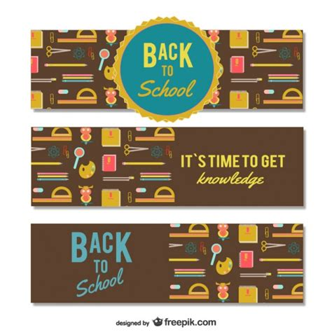 Back To School Banner Templates Vector Free Download Back To School Template Free