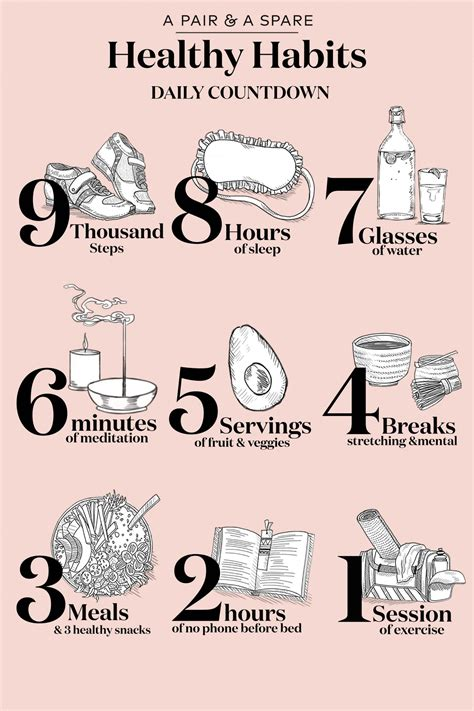 Healthy Habits For A Healthy Healthy Habits Daily Countdown Diy Lifestyle Tips Exercises Healthy Living And