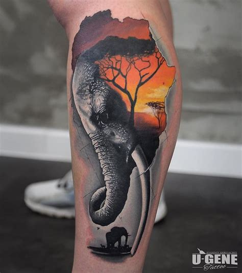 elephant face tattoo elephant tattoos insider