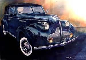 painting for cars watercolor claccis car