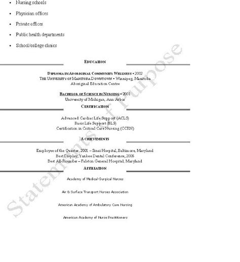 Anesthetist Curriculum Vitae Crna Cv Page 2 My Future
