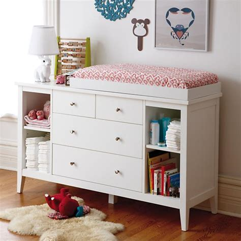 Land Of Nod Changing Table 2 2 Drawer White Changing Table The Land Of Nod