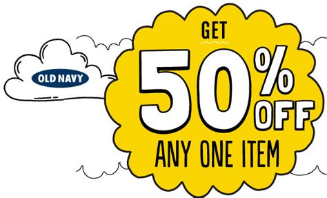 old navy 50 off any one item today only 10 5 13 w old navy 50 off any one item today only 10 5 13 w