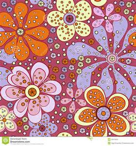 Geometric Upholstery Fabric Vector Seamless Floral Fabric Retro Background Stock