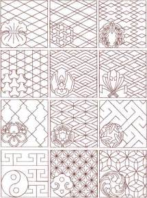 sashiko on embroidery patterns and transfer paper