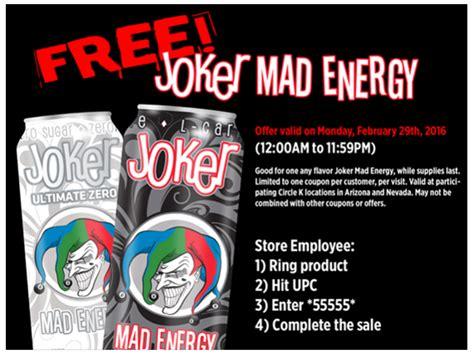 k energy drink free joker mad energy drink at circle k