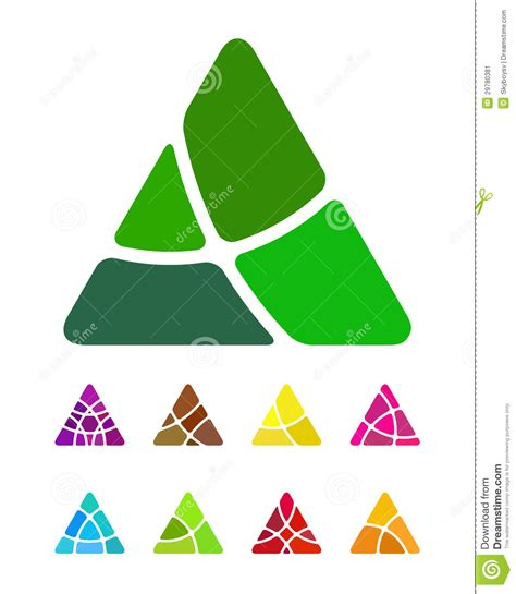 Design Abstract Triangle Logo Element Stock Image   Image
