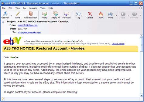 ebay my account my ebay account was hacked