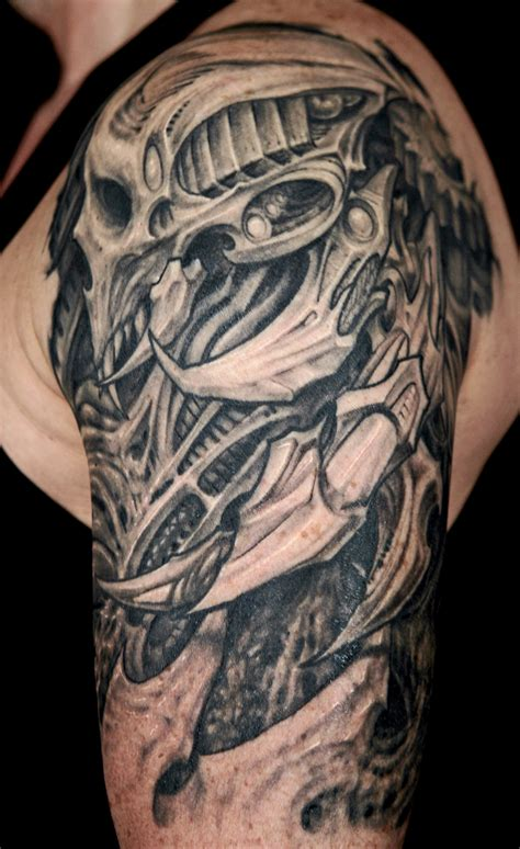 biomechanical skull tattoo design 25 amazing biomechanical tattoos design