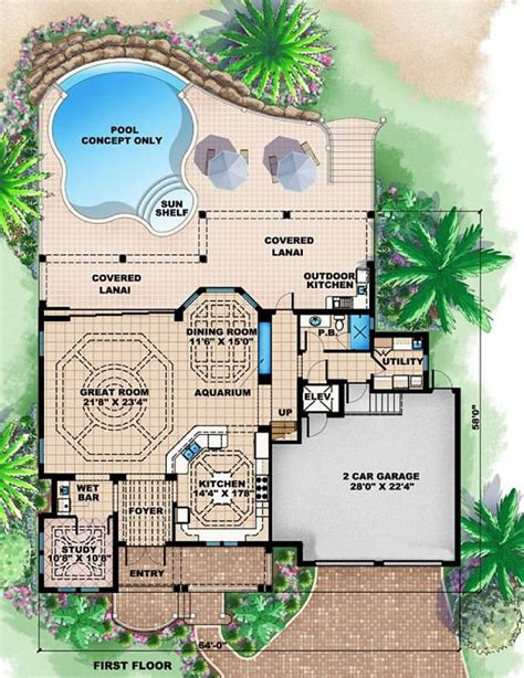 Beach Floor Plans by Coastal Bungalow House Plans Brucall Com