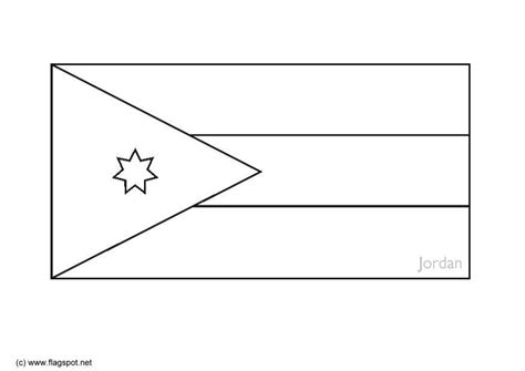 coloring page flag jordan img 6288