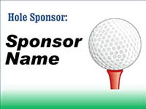 Golf Sponsor Sign Template Golf Tournament Sponsor Signs Megaprint