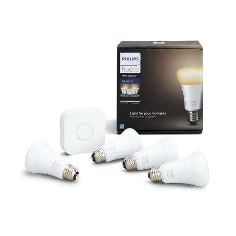 philips hue a19 smart led light bulb philips hue white ambiance 60 watt equivalent a19 smart