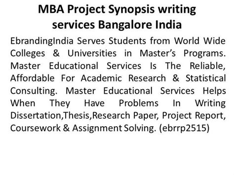 Mba Project On Funds In India by Mba Project Synopsis Writing Services Bangalore India