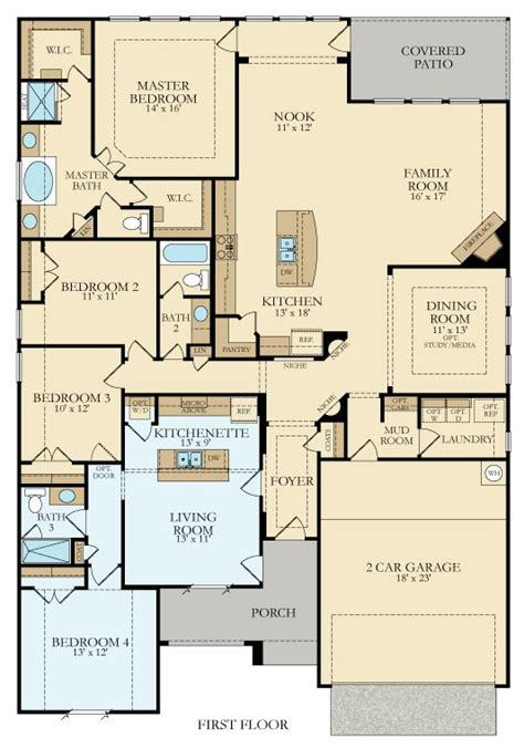 floor plans for homes in texas 492n genesis new home plan in crown ridge by lennar