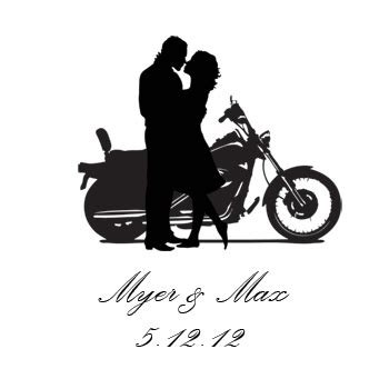 Wedding On Motorcycle Clipart by Motorcycle Clipart Wedding Pencil And In Color