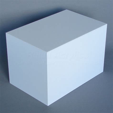 white display 20cm x 30cm white acrylic display box