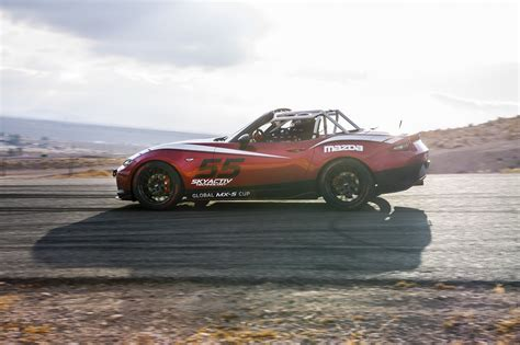 mazda mx series 2016 mazda mx 5 wears its track suit for new global race