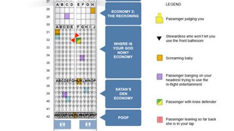 seating chart  hell airlines
