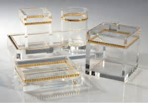 Lucite Bathroom Accessories Mike Ally With Gold Lucite Clear Bathroom Collection