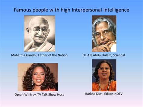 celebrity with interpersonal intelligence intrapersonal intelligence famous people