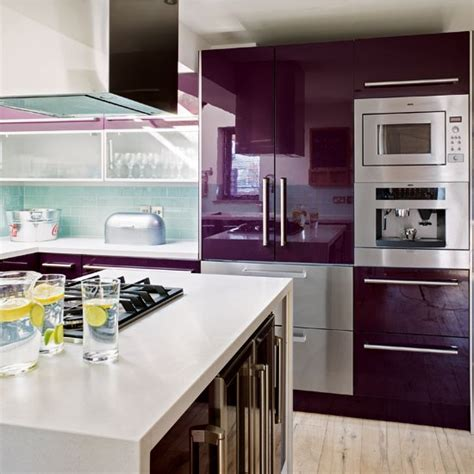 purple kitchens contemporary purple kitchen kitchen design idea