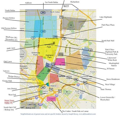 dallas usa map dallas neighborhood map map of dallas neighborhoods