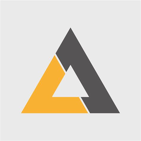 triangle pattern logo quot triangle quot logo concept on behance